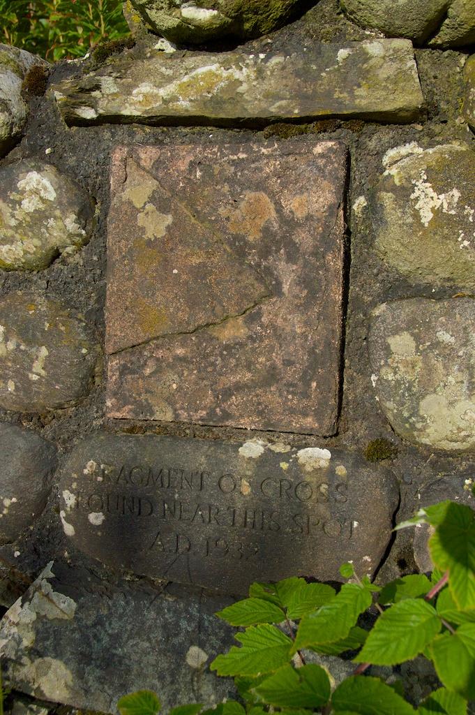 Callander graveyard - fragment of cross