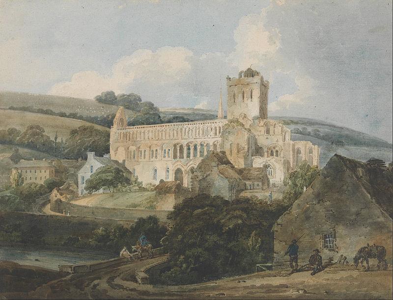 Jedburgh Abbey from the south-east, by Thomas Girtin, 1800