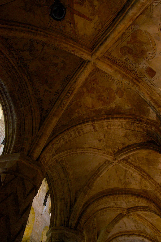 Dunfermline Abbey painted ceiling