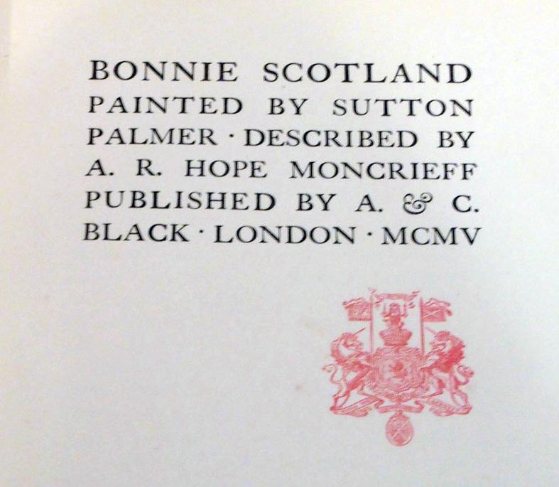 Bonnie Scotland - title page